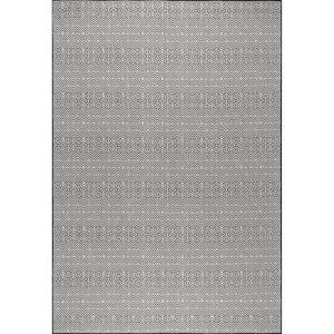 Paloma Black 9 ft. 6 in. x 12 ft. Abstract Geometric Indoor/Outdoor Area Rug