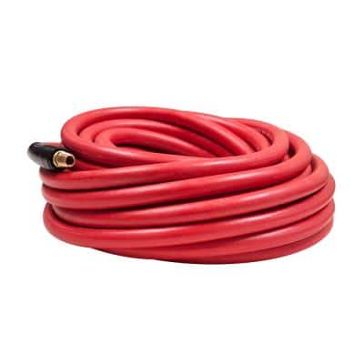 3/8 in. x 35 ft., 1/4 in. Air Hose Fittings Rubber