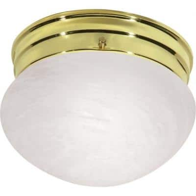 Glomar Brass Flush Mount Lights Lighting The Home Depot