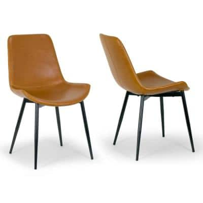Faux Leather Dining Chairs Kitchen Dining Room Furniture The Home Depot