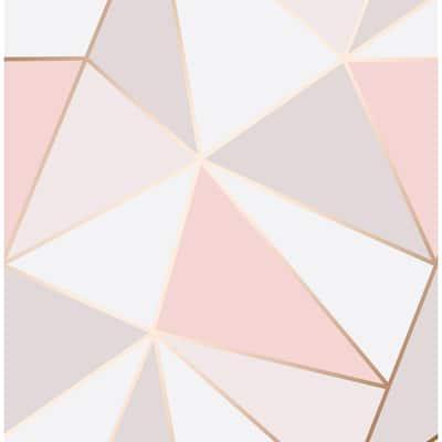 Arken Rose Gold Geometric Rose Gold Wallpaper Sample