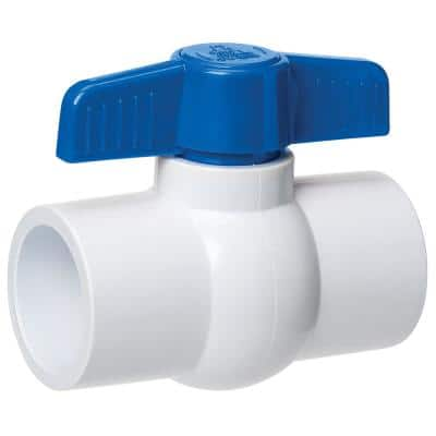 1 in. x 1 in. PVC Sch. 40 Slip x Slip Ball Valve (12-Pack)