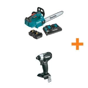 16 in. 18V X2 (36V) LXT Lithium-Ion Brushless Top Handle Chain Saw Kit(5.0Ah) with Bonus 18V LXT Brushless Impact Driver