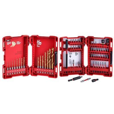SHOCKWAVE IMPACT DUTY Titanium Drill Bit Set and Driver Bit Set (60-Piece)