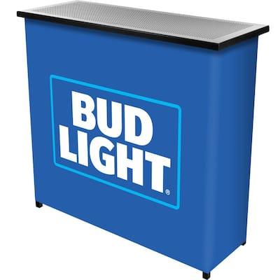 Bud Light 2-Shelf Blue Bar with Case