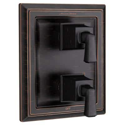 Town Square 2-Handle Wall Mount Diverter Valve Trim Kit in Legacy Bronze (Valve Not Included)