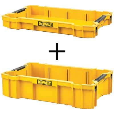 TOUGHSYSTEM 2.0 Shallow Tool Tray with (1) TOUGHSYSTEM 2.0 Deep Tool Tray