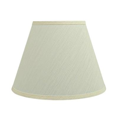 12 in. x 9 in. Eggshell Hardback Empire Lamp Shade