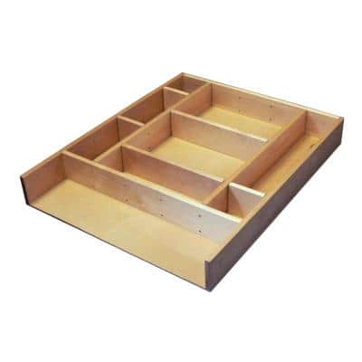 2.5 in. H x 15.38 in. W x 19.12 in. D Large Adjustable Wood Drawer Organizer Kit