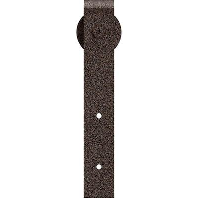 1-1/2 in. x 2 in. x 11-1/2 in. Steel Premium J-Strap Roller Hanger Moulding Copper Vein