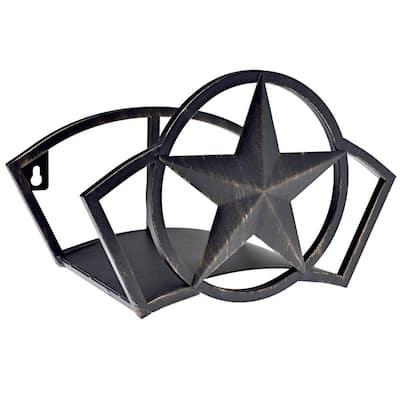 Abstract Star Black Vinyl Hose Hanger