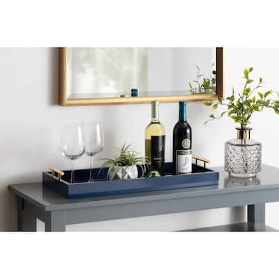 Lipton 10 in. x 24 in. Navy Blue Decorative Tray