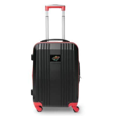 NHL Minnesota Wild 21 in. Red Hardcase 2-Tone Luggage Carry-On Spinner Suitcase