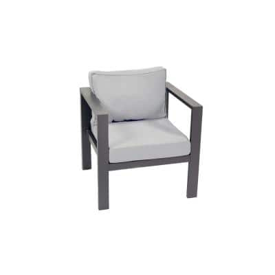 Lakeview Aluminum Outdoor Lounge Chair with Gray Cushions