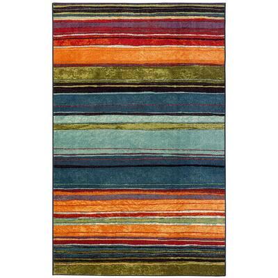 Rainbow Multi 10 ft. x 14 ft. Striped Area Rug