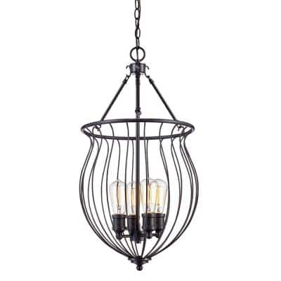Congress 4-Light Rubbed Oil Bronze Pendant with Metal Shade