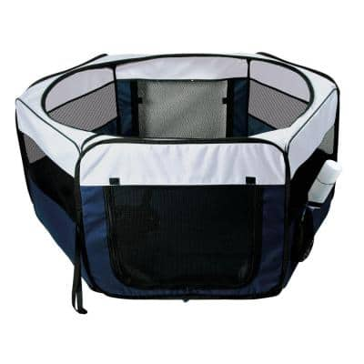 35.25 in. L x 35.25 in. W x 15.5 in. H Small Soft Sided Nylon Mobile Play Pen