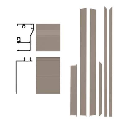 Remodel 4-9/16 in. x 1-1/4 in. x 84 in. Sandstone Aluminum Entry Door Frame Clad Kit with Brickmould