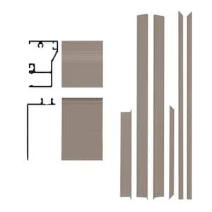 Remodel 6-9/16 in. x 1-1/4 in. x 84 in. Sandstone Aluminum Entry Door Frame Clad Kit with Brickmould
