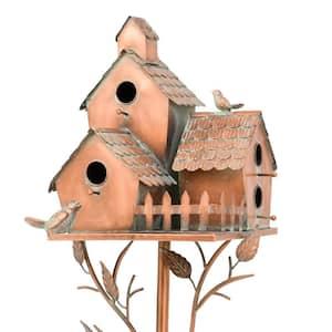 Country Style Iron Birdhouse Stake New Britain