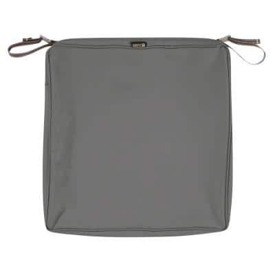 Montlake FadeSafe 20 in. Light Charcoal Square Outdoor Seat Cushion Cover