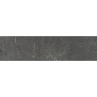 Sterlina Asphalt 2.76 in. x 11.81 in. Matte Porcelain Single Bullnose Tile