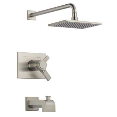 Vero TempAssure 17T 1-Handle Tub and Shower Faucet Trim Kit in Stainless (Valve Not Included)