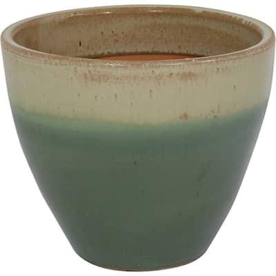 Resort Ceramic Indoor/Outdoor Planter - Seafoam - 13 in.