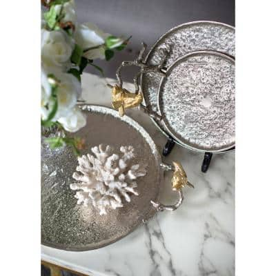 Lavada Decorative Nickel, Gold Large Tray