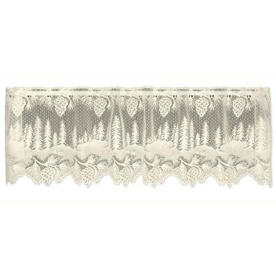 Pinecone 16 in. L Polyester Valance in Ecru