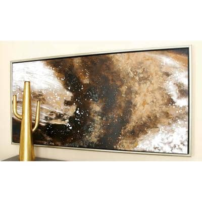 """28 in. x 55 in. """"Milky Way"""" Polystone and Canvas Art"""