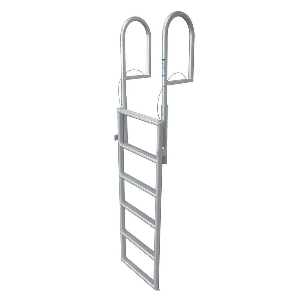 Tommy Docks 6 Rung Step Lifting Aluminum Ladder Td 30261 The Home Depot