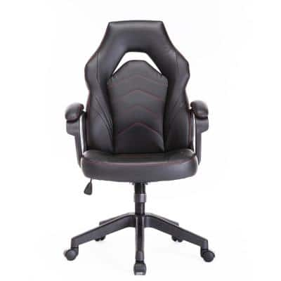 Black Gaming Chair Racing Style Computer Desk Chair Work Chair with Lumbar Support PU Leatherwith Adjustable Task Chair