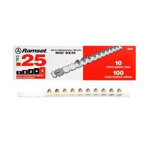 0.25 Caliber Red Loads (100 per Pack)