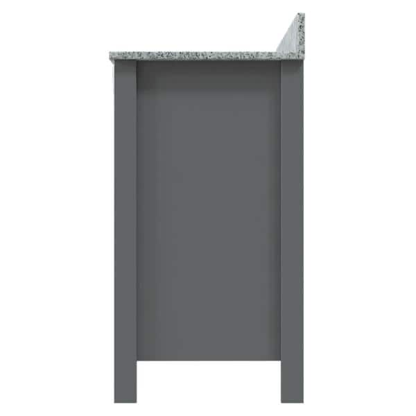 Home Decorators Collection Davenport 31 In W X 19 In D Bath Vanity In Twilight Gray With Granite Vanity Top In Viscont White With Farmhouse Sink 30607 The Home Depot
