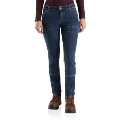 Woman's 8 Rainwash Cotton/Polyester/Spandex Straight Fit Double Front Jean