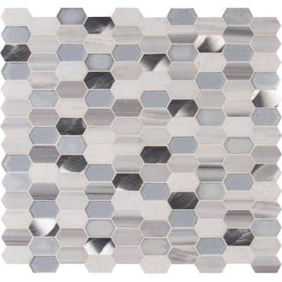 Harlow Picket 11.5 in. x 12.4 in. x 8 mm Textured Multi-Surface Mesh-Mounted Mosaic Tile (9.9 sq. ft./Case)