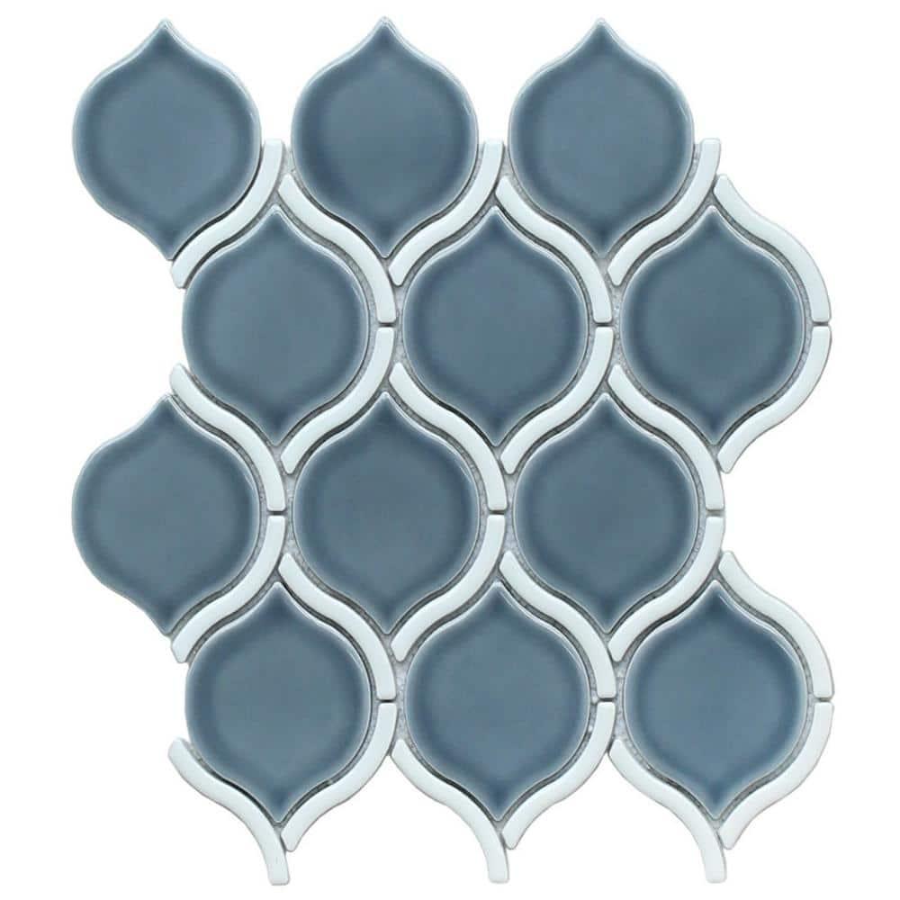 Emser Diva Chronos 10 28 In X 11 5 In Arabesque Glossy Ceramic Mosaic Tile 0 82 Sq Ft Each 1919174 The Home Depot