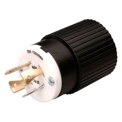 Twist Lock 20-Amp 125/250-Volt Plug