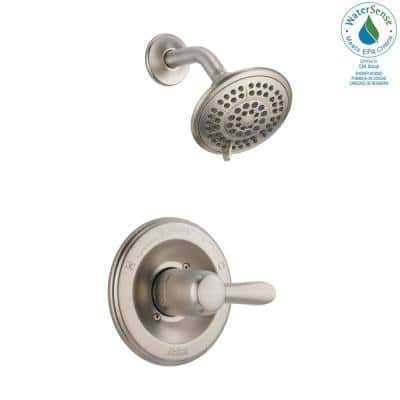 Lahara 1-Handle 1-Spray Shower Faucet Trim Kit in Stainless (Valve Not Included)