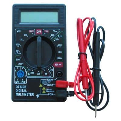 Digital Multimeter Conveniently Measures Floor Heating System Resistance as Required by Warranty