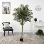 6 ft. Artificial Single Stalk Golden Cane Palm Tree