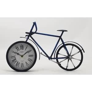 Bronze Metal Roman Numbers Bike Clock