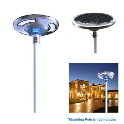 Solar Power SMART Motion Sensing LED Round Post Light for Commercial Residential Walkway Courtyard Parking Lot