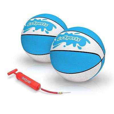 Size 6 Water Basketball Anti Slip Swimming Pool Hoop Ball (2-Pack)