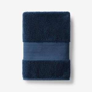Legends Regal Midnight Blue Solid Egyptian Cotton Bath Towel