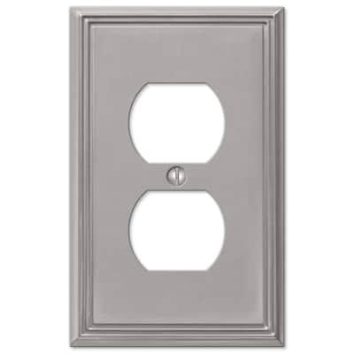 Rhodes 1 Gang Duplex Metal Wall Plate - Brushed Nickel