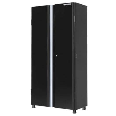 Ready-to-Assemble 24-Gauge Steel Freestanding Garage Cabinet in Black (36 in. W x 72 in. H x 18 in. D)