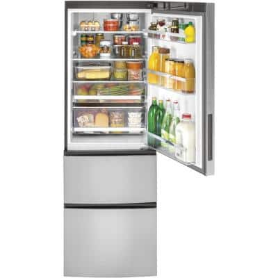 11.9 cu. ft. Built-In Bottom Freezer Refrigerator in Stainless Steel, Counter Depth
