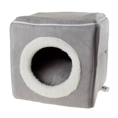 Small Grey Cozy Cave Pet Cube